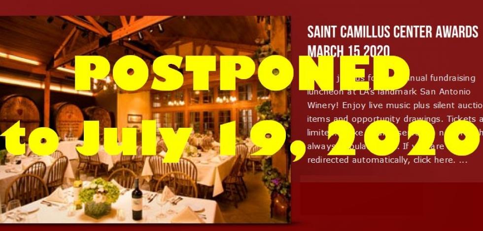 Saint Camillus Center Awards Postponed